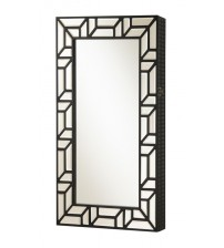 Coaster 902746 Accent Mirrors Wall Mounted Jewelry Armoire in Black