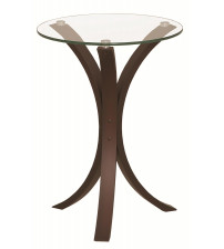 Coaster 902867 Accent Tables Snack Table with Glass Table in Cappuccino