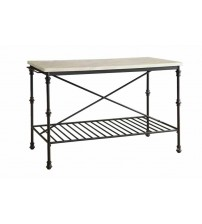 Coaster 910120 Kitchen Carts Kitchen Island with Faux Marble Top