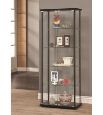 Coaster Furniture 950170 5 Shelf Contemporary Glass Curio Cabinet