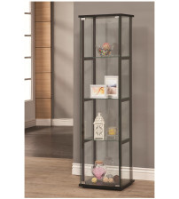 Coaster Furniture 950171 4 Shelf Contemporary Glass Curio Cabinet