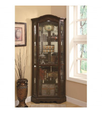 Coaster Furniture Accents Curio in Rich Brown 950175