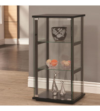 Coaster Furniture 950179 3 Shelf Contemporary Glass Curio Cabinet