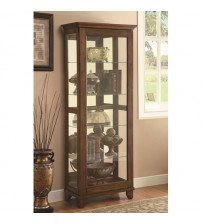 Coaster Furniture Accents Curio with Mirrored Back in Warm Brown 950188