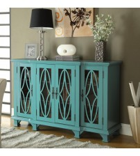 Coaster Furniture 950245 Accent Large Teal Cabinet