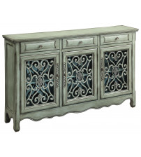 Coaster 950357 Accent Cabinets Traditional Accent Cabinet Antique Green Finish