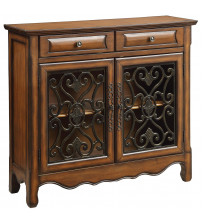 Coaster 950358 Accent Cabinets Traditional Accent Cabinet Brown Finish