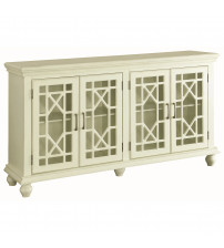 Coaster 950638 Accent Cabinets Accent Cabinet with Lattice Doors in Antique White