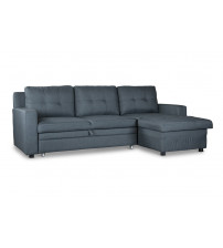 Baxton Studio 9508-RFC-Gray Staffordshire Sectional Sofa