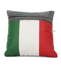 Zuo Modern Cowboy Cushion Blue Denim with Italy Flag 98219