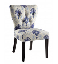 Ave Six Andrew Chair in Medallion Ikat Blue AND-M13