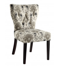 Ave Six Andrew Chair in Medallion Ikat Grey AND-M15