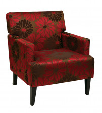 Ave Six Carrington Arm Chair in Groovy Red CAR51A-G14
