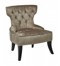 Ave Six CLT-B47 Colton Vintage Style Button Tufted Velvet Chair in Otter
