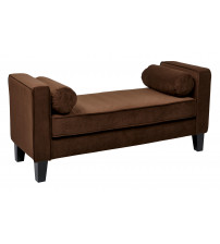 Ave Six Curves Bench Chocolate Velvet CVS20-C12
