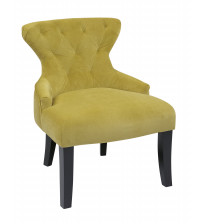 Ave Six Curves Hour Glass Chair in Basil Velvet CVS26-B39