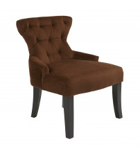 Ave Six Curves Hour Glass Accent Chair Chocolate CVS26-C12