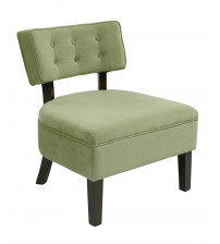 Ave Six Curves Button Accent Chair Spring Green Velvet CVS263-G28