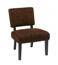 Ave Six Jasmine Accent Chair in Maze Chocolate JAS-X38