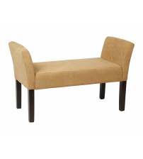 Ave Six KLS20-S34 Kelsey Bench with Dark Espresso Legs and Shultz Nugget Fabric