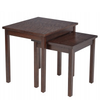 Ave Six MST19 Main Street Nesting End Tables in Espresso