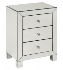 Ave Six Reflections 3 Drawer Accent Table REF173-SLV