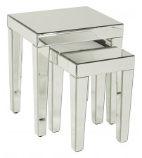 Ave Six Reflections Nesting Tables REF19-SLV