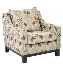 Ave Six RGT51-J5 Regent Chair in Arizona Oyster Fabric with Dark Expresso Legs
