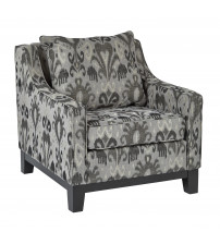 Ave Six RGT51-J8 Regent Chair in Arizona Onyx Fabric with Black Legs