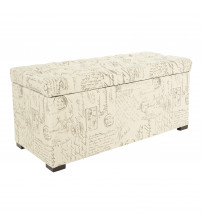 Ave Six SAH3917-S13 Sahara Tufted Storage Bench in Script