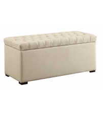 Ave Six SAH3917-X14 Sahara Tufted Storage Bench in Linen
