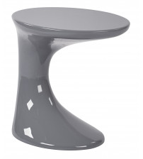 Ave Six SLKST-K2 Slick Side Table with High Gloss in Grey Finish
