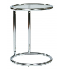 Ave Six Yield Glass Circle Table Chrome / Glass YLD14