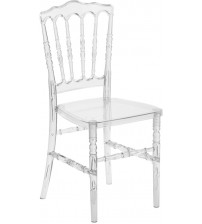 Flash Furniture BH-H002-CRYSTAL-GG Flash Elegance Crystal Ice Napoleon Stacking Chair