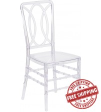 Flash Furniture BH-H007-CRYSTAL-GG Flash Elegance Crystal Ice Stacking Chair