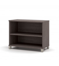 Bestar 120160-1147 Pro-Linea 2-Shelf Bookcase in Bark Grey