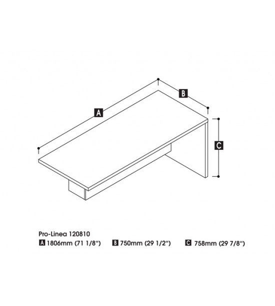 Bestar 120810-1132 Pro-Linea Return table in Deep Grey