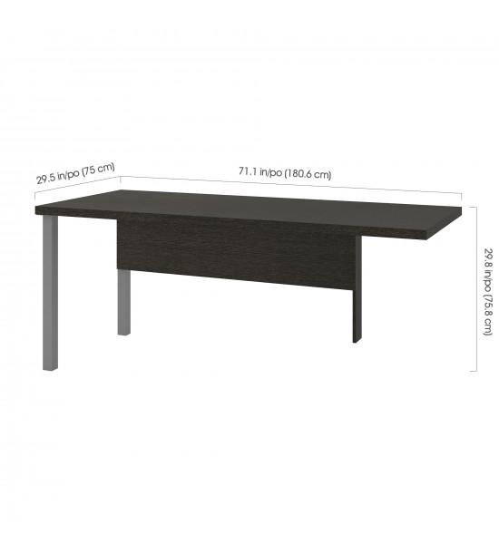 Bestar 120811-32 Pro-Linea Return table with metal legs in Deep Grey