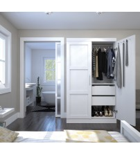 Bestar 26861-17 Pur By Pullout Armoire in White