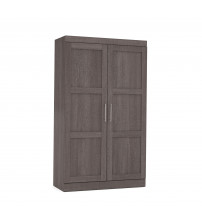 Bestar 26861-47 Pur By Pullout Armoire in Bark Gray