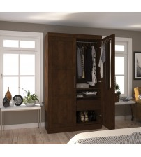 Bestar 26861-69 Pur By Pullout Armoire in Chocolate