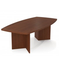 Bestar 65776-39 Bestar boat shaped conference table with 1 3/4 inch melamine top in Bordeaux