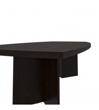 """Bestar 65776-47 Boat Shaped Conference Table with 1 3/4"""" Melamine Top in Bark Gray"""