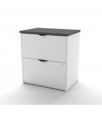 Bestar 92630-2152 Innova Lateral File in White and Antigua