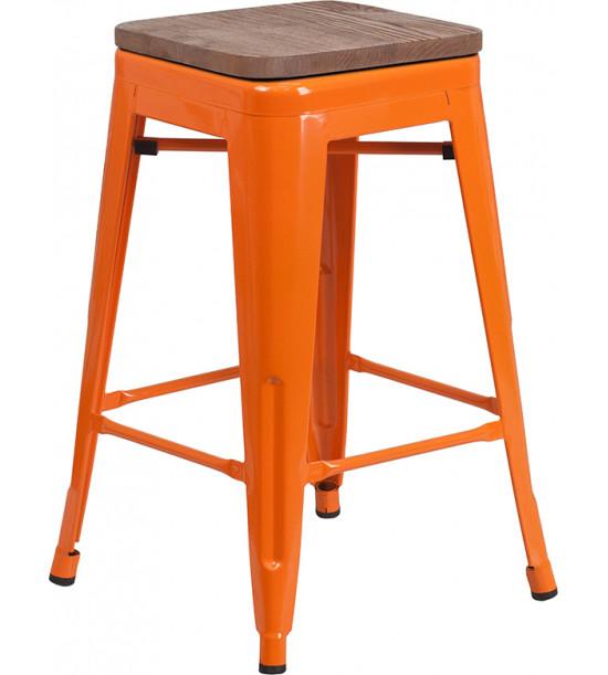 Flash Furniture CH-31320-24-OR-WD-GG 24