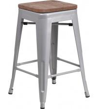 Flash Furniture CH-31320-24-SIL-WD-GG 24