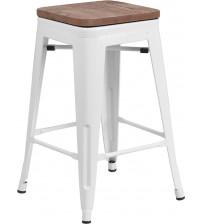 Flash Furniture CH-31320-24-WH-WD-GG 24