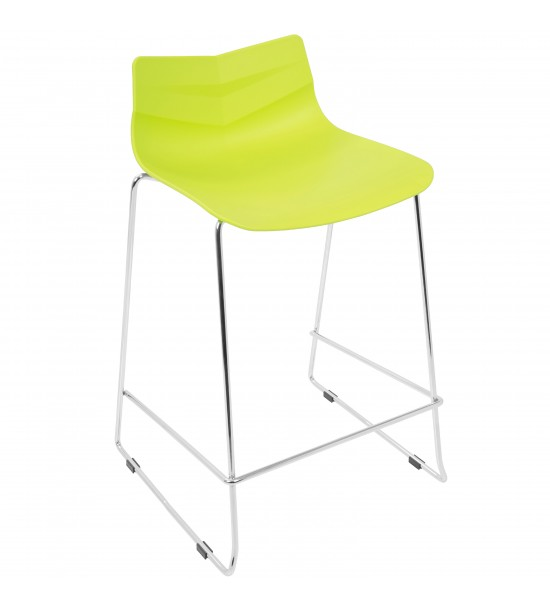 Lumisource CS-ARROW LG2 Arrow Contemporary Counter Stool in Lime Green - Set of 2