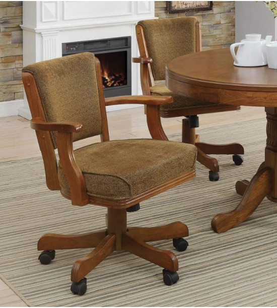 Coaster Furniture 100952 Mitchell Upholstered Arm Game Chair
