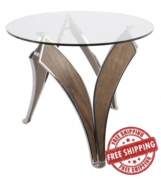 Lumisource Dt Prstg Wl Gl Prestige Contemporary Dining Table